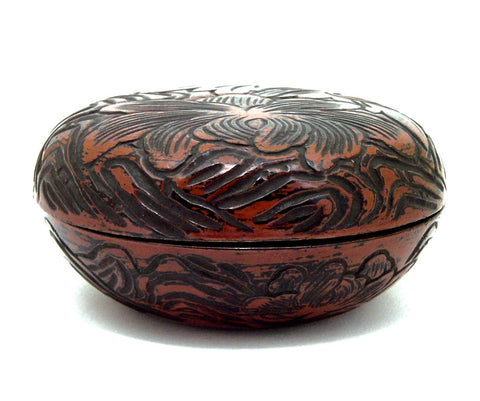Japanese Antique Lacquered Round Box and Cover | Taisho Period