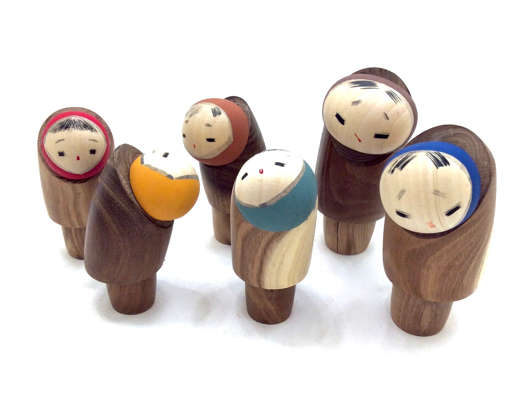 Japanese Vintage Sosaku Kokeshi Snow Children