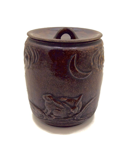 Japanese Vintage Mizusashi | Stoneware Tea Ceremony Water Jar