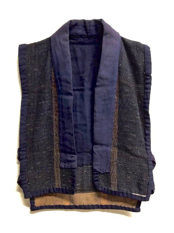 Antique Japanese Open Front Farmer's Vest | Noragi Vest