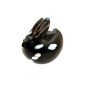 Notojima Art Glass Paperweight Rabbit