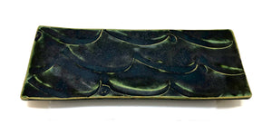 Shunto, Kato Oribe Pottery Slab | Oribe Elongated Pottery Platter | 1947-1986
