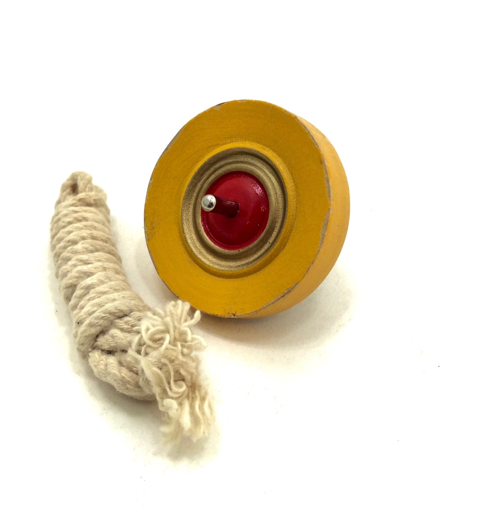 Japanese Traditional Flying Spinning Top with Cord  | Vintage Yo-yo Spinning Koma