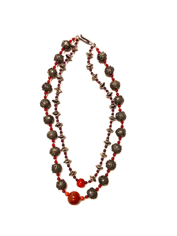Stering Silver_Carnelian Necklace