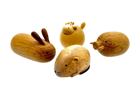 Takayama Contemporary Hand Carved Animals | Set of Four