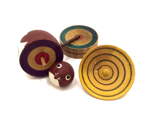 Japanese Traditional Spinning Top of Tanuki The Badger | Vintage Koma