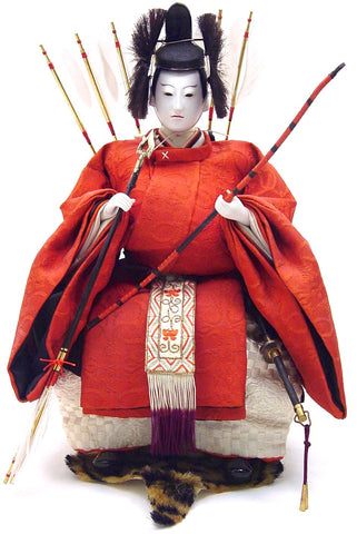 Antique Japanese Zuijin doll | Minister of the Left