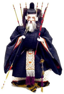 Antique Japanese Zuijin doll | Minister of the Right