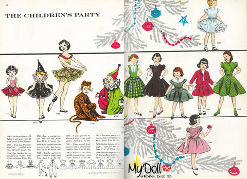 1954 Butterick Pattern Book Children's Patterns