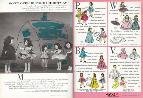 1954 Butterick Pattern Book Doll Clothes Patterns