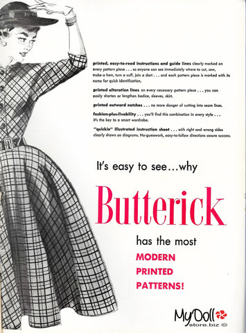 1954 Butterick Pattern Book Advertisement