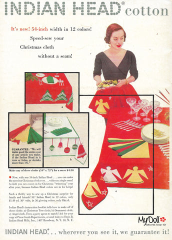 1954 Butterick Pattern Book Fabric Ad
