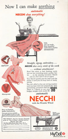 1954 Butterick Pattern Book Necchi Sewing Machine