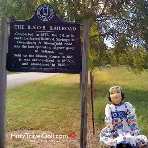 BSOB Railroad Marker in Springville Indiana