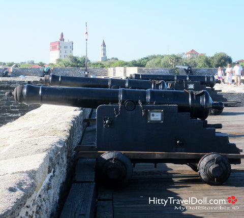 The Guns at Castillo de San Marcos St Augustine