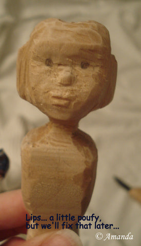 Hitty Blank Carving