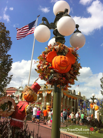 Disneyworld Decorated for Fall