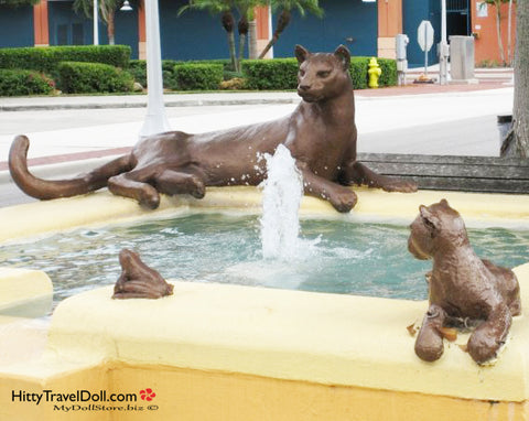 Florida Panther Fountain Fort Myers Florida