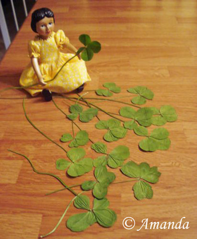 Hitty and her four leaf clover collection