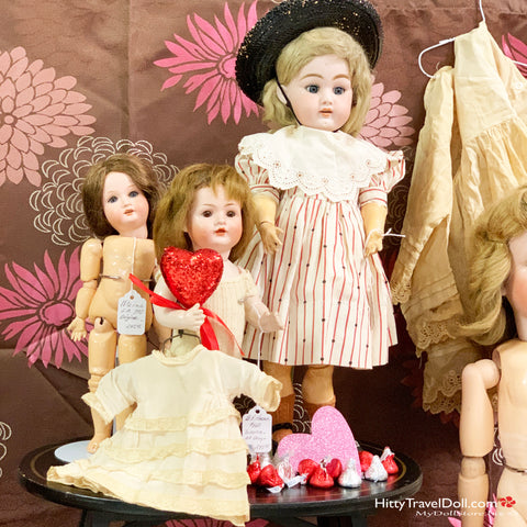 These dolls were ready for Valentine's Day