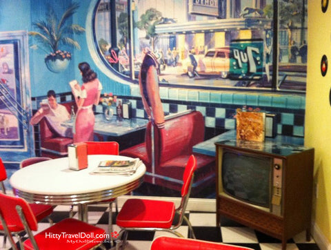 The Times Room, also known as the breakfast room, Palms Retro Hotel Atlantic Beach