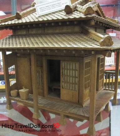 WWII Era Model of a Japanese House Military Heritage and Aviation Museum