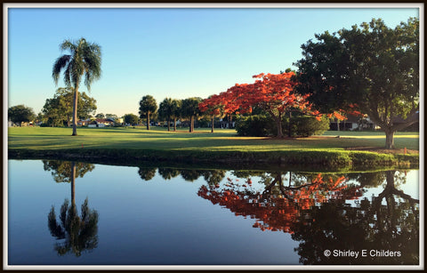 A view from our Lanai at Seven Lakes Golf and Tennis Community