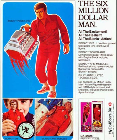 Kenner Six Million Dollar Man Ad