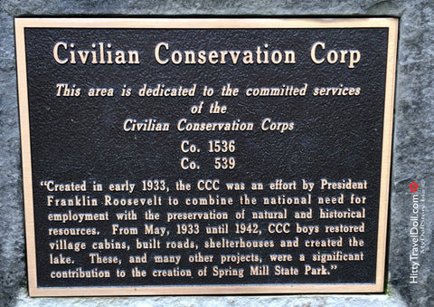 Civilian Conservation Corp at Spring Mill State Park