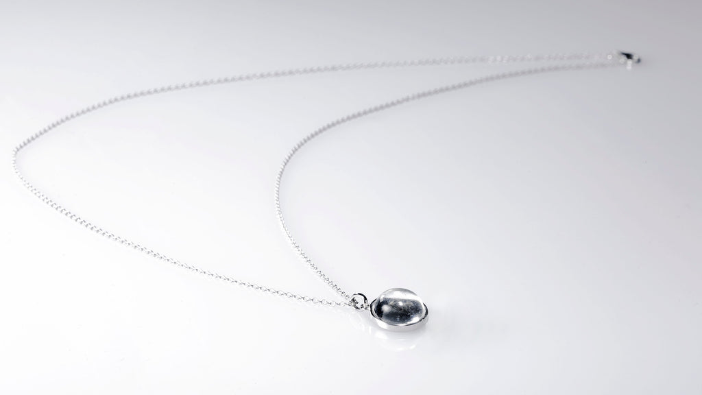 Sterling Silver Lunar Necklace Made With Moon Meteorite