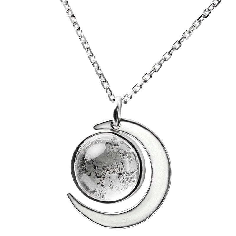 Sterling Silver Moonlight Necklace Made With Moon Meteorite