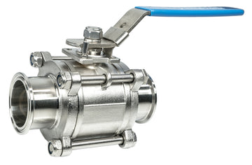 316L Stainless Steel Sanitary Tri-Clamp 3 Piece Ball Valves