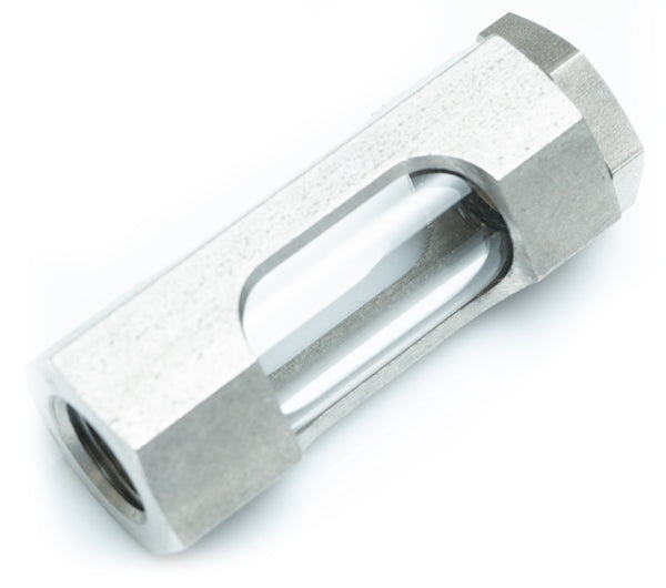 "1/4"" NPT SS Flow Sight Glass 