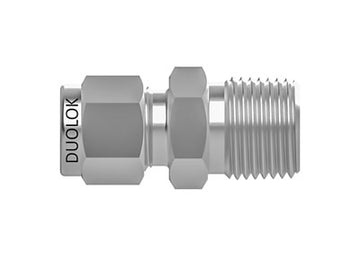 SSP Duolok - Male Connector Bore Through