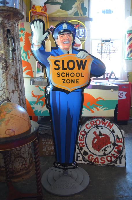 Coca-Cola Vintage Stand Up Slow Zone Sign
