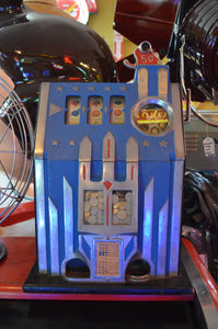 Castle Front 5 cent Slot Machine Circa 1936