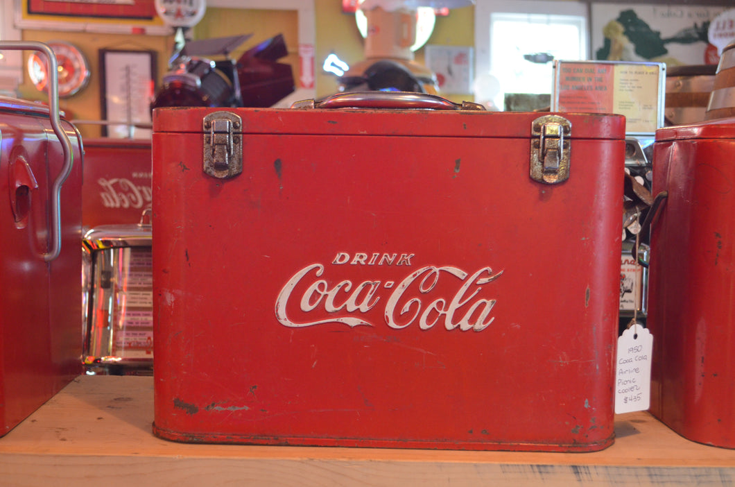 1950's Coca-Cola Airline Picnic Cooler