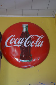 Coke Bottle Button Sign