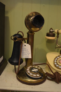 1920's Brass Candlestick Telephone