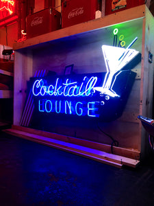 Animated Cocktail Lounge Neon Sign