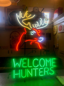 Hunters Welcome Neon Sign
