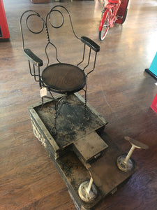 1900 Shoeshine Stand with Original Chair