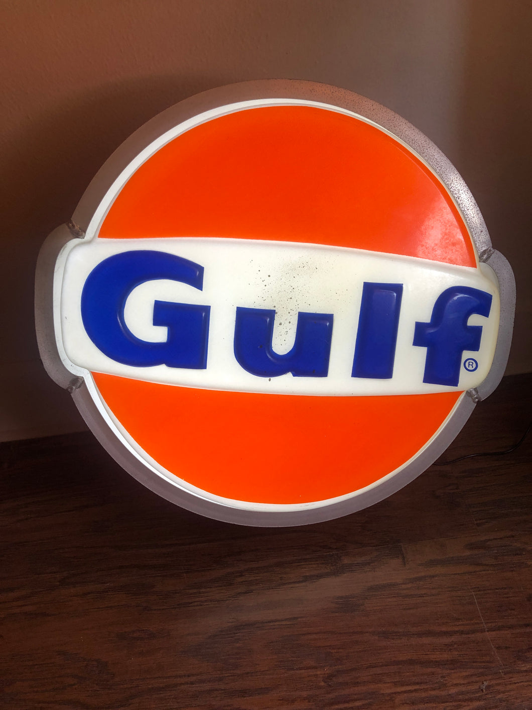 Gulf Oil Light Up Sign