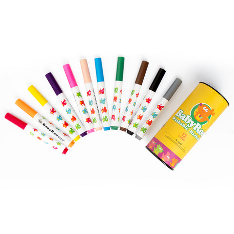 Washable Markers - Baby Roo 12 Colours