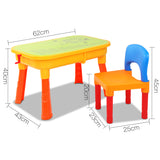 Jungle Kids Table & Chair Sandpit Set Measurements
