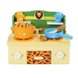 Zoo Themed Kitchen Stove Play Set Saucepans