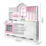 Wooden Kitchen Play Set - White & Pink Size Chart