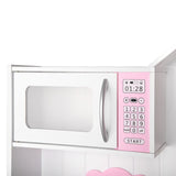 Wooden Kitchen Play Set - White & Pink Microwave