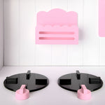 Wooden Kitchen Play Set - White & Pink Stove Top