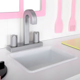 Wooden Kitchen Play Set - White & Pink Sink